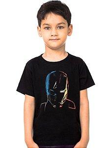 Camiseta Infantil Homem de Ferro e Capitão America