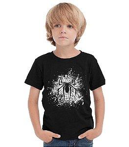 Camiseta Infantil Homem Aranha - Teia