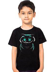 Camiseta Infantil  Cheshire Cat - Alice no País das Maravilhas
