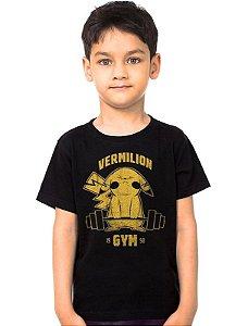 Camiseta Infantil Pokemon Vermilion Gym - Nerd e Geek - Presentes Criativos
