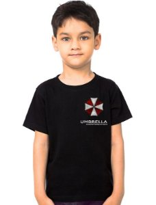 Camiseta Infantil Resident Evil Umbrella Corporation - Nerd e Geek - Presentes Criativos