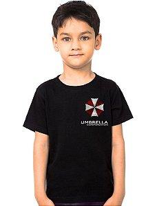 Camiseta Infantil Resident Evil Umbrella Corporation - Nerd e Geek - Presentes Criativos
