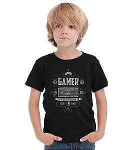 Camiseta Infantil Nintendo - Classic Gamer - Nerd e Geek - Presentes Criativos