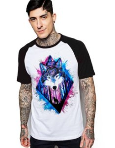 Camiseta Raglan King33 Wolf Forest