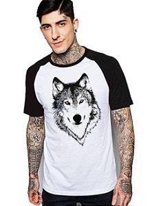 Camiseta Raglan King33 Wolf Face