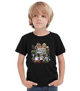 Camiseta Infantil Grand Theft Mario