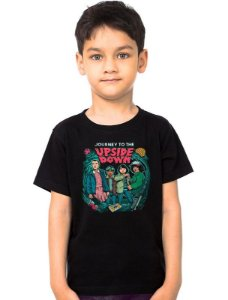 Camiseta Infantil Stranger Things - Upside Down - Nerd e Geek - Presentes Criativos