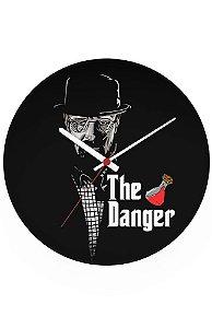 Relógio de Parede Heisenberg The Danger - Nerd e Geek - Presentes Criativos