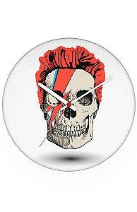 Relógio de Parede David Bowie Skull - Nerd e Geek - Presentes Criativos