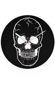 Relógio de Parede Skull Ghost - Nerd e Geek - Presentes Criativos