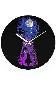 Relógio de Parede Alice no País das Maravilhas
