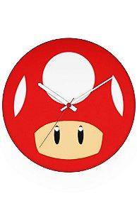 Relógio de Parede Toad - Nerd e Geek - Presentes Criativos