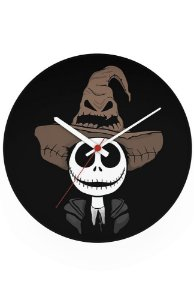 Relógio de Parede Jack Skellington - Halloween - Nerd e Geek - Presentes Criativos