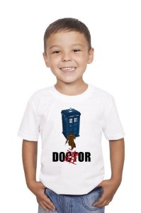 Camiseta Infantil Doctor Who Police Box - Nerd e Geek - Presentes Criativos