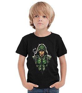 Camiseta Infantil Arrow - Oliver Queen / Arqueiro Verde - Nerd e Geek - Presentes Criativos