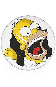 Relógio de Parede Homer Simpsons - Nerd e Geek - Presentes Criativos