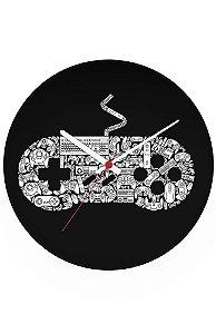 Relógio de Parede Controle Super Nintendo - Nerd e Geek - Presentes Criativos