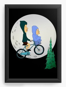 Quadro Decorativo A4 (33X24) Beavis and Butt Head - Nerd e Geek - Presentes Criativos