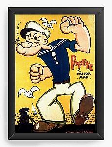 Quadro Decorativo A4 (33X24) Popeye - Nerd e Geek - Presentes Criativos