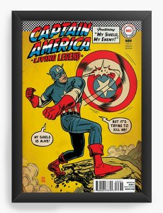 Quadro Decorativo Captain America