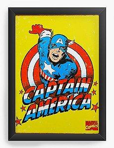 Quadro Decorativo Capitão America