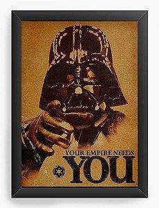 Quadro Decorativo Star Wars - Darth Vader