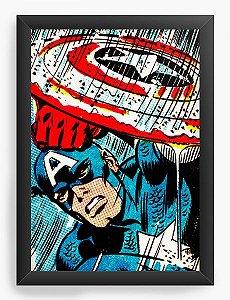 Quadro Decorativo Capitão America - Marvel