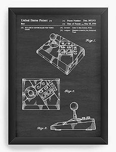 Quadro Decorativo A4 (33X24) United States Patent - Video Game - Nerd e Geek - Presentes Criativos