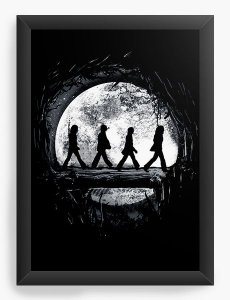 Quadro Decorativo A4 (33X24) The Beatles - Nerd e Geek - Presentes Criativos