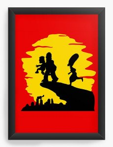 Quadro Decorativo A4 (33X24) Simpsons - Nerd e Geek - Presentes Criativos