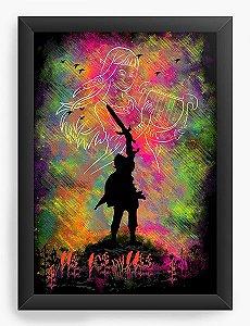 Quadro Decorativo The Legend of Zelda - Nerd e Geek - Presentes Criativos