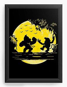 Quadro Decorativo A4 (33X24) Donkey Kong - Nerd e Geek - Presentes Criativos