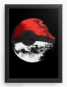 Quadro Decorativo A4 (33X24) Pokemon - Estrela da Morte - Nerd e Geek - Presentes Criativos