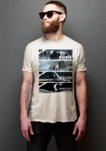 Camiseta Masculina Walker - Nerd e Geek - Presentes Criativos