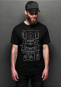 Camiseta Masculina  Saturn  - Nerd e Geek - Presentes Criativos