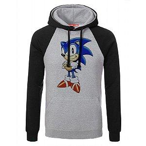 Blusa com Capuz Sonic - Game