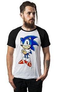 Camiseta Raglan Sonic - Nerd e Geek - Presentes Criativos