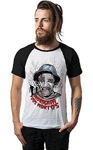 Camiseta Raglan Madrugada dos Mortos - Nerd e Geek - Presentes Criativos