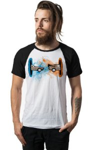 Camiseta Raglan De volta para o Futuro - Nerd e Geek - Presentes Criativos