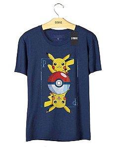 Camiseta Pikachu Carta - Pokemon