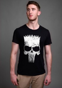 Camiseta Masculina  Simpson Punisher - Nerd e Geek - Presentes Criativos