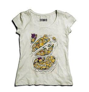 Camiseta Feminina Minions - Nerd e Geek - Presentes Criativos