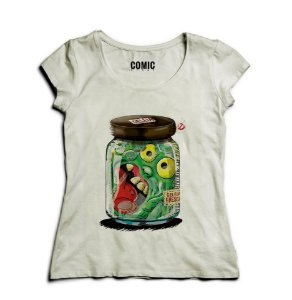 Camiseta Feminina Geleia Monster - Nerd e Geek - Presentes Criativos
