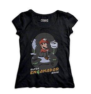 Camiseta Feminina Super Mario Encanador - Nerd e Geek - Presentes Criativos