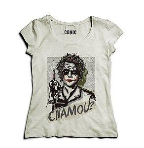 Camiseta Feminina Chamou ? - Nerd e Geek - Presentes Criativos
