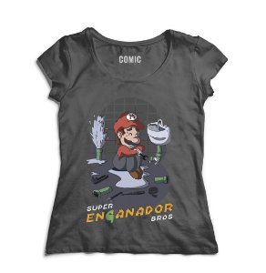 Camiseta Feminina Super Mario Bros - Nerd e Geek - Presentes Criativos