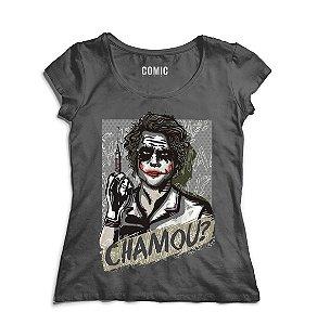 Camiseta Feminina Chamou? - Nerd e Geek - Presentes Criativos
