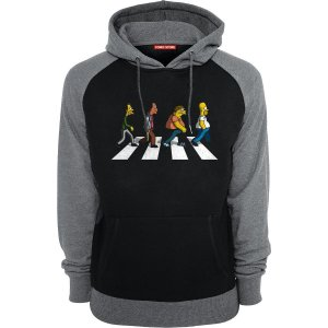 Blusa com Capuz Simpsons Beatles