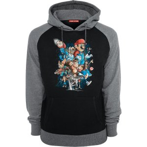 Blusa com Capuz Super Mario e Sonic