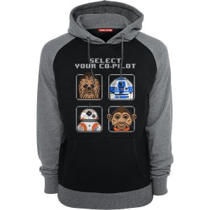 Blusa com Capuz Star Wars - Chewbacca e R2-D2